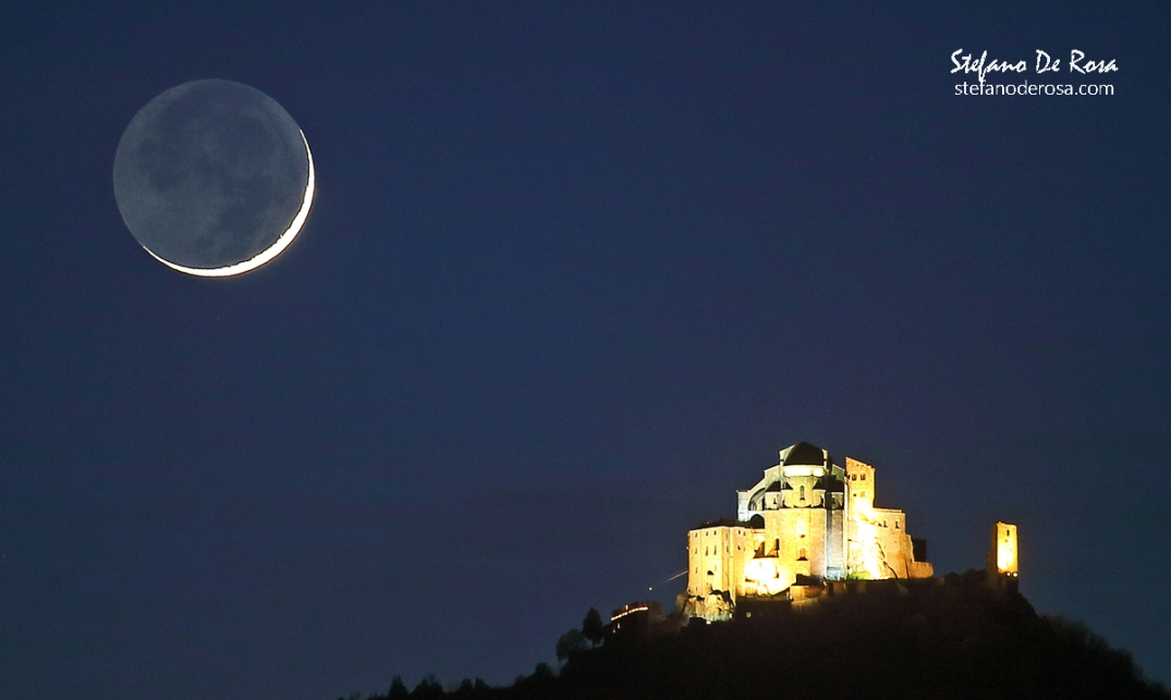 Crescent Moon and The Sacra di San Michele