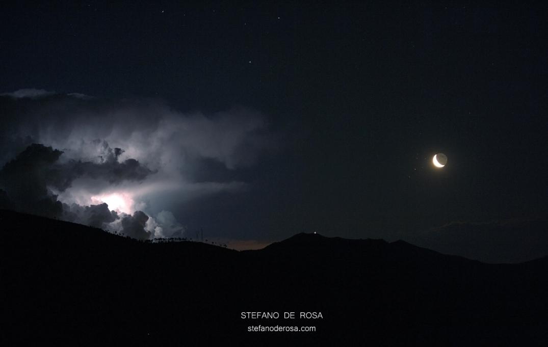 Il Temporale, le Pleiadi e la Luna