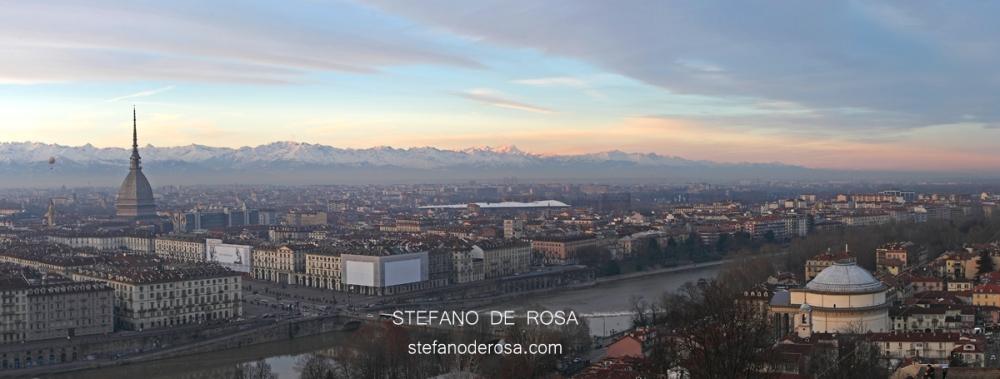 Panoramica con Mole, Turin Eye e Gran Madre