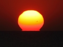 Omega sunsrise with sunspot_14.7.2012
