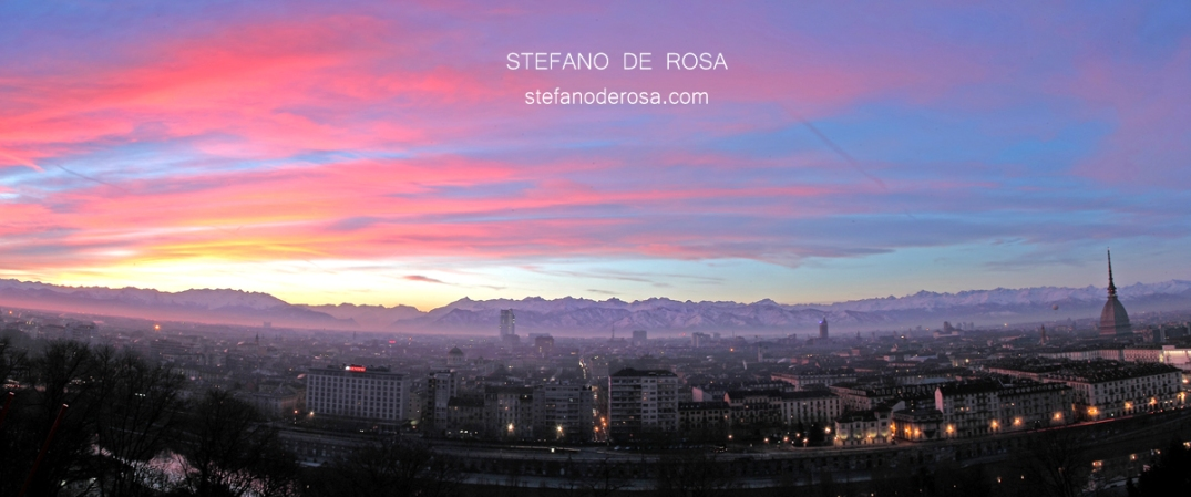 Sunset show over Turin