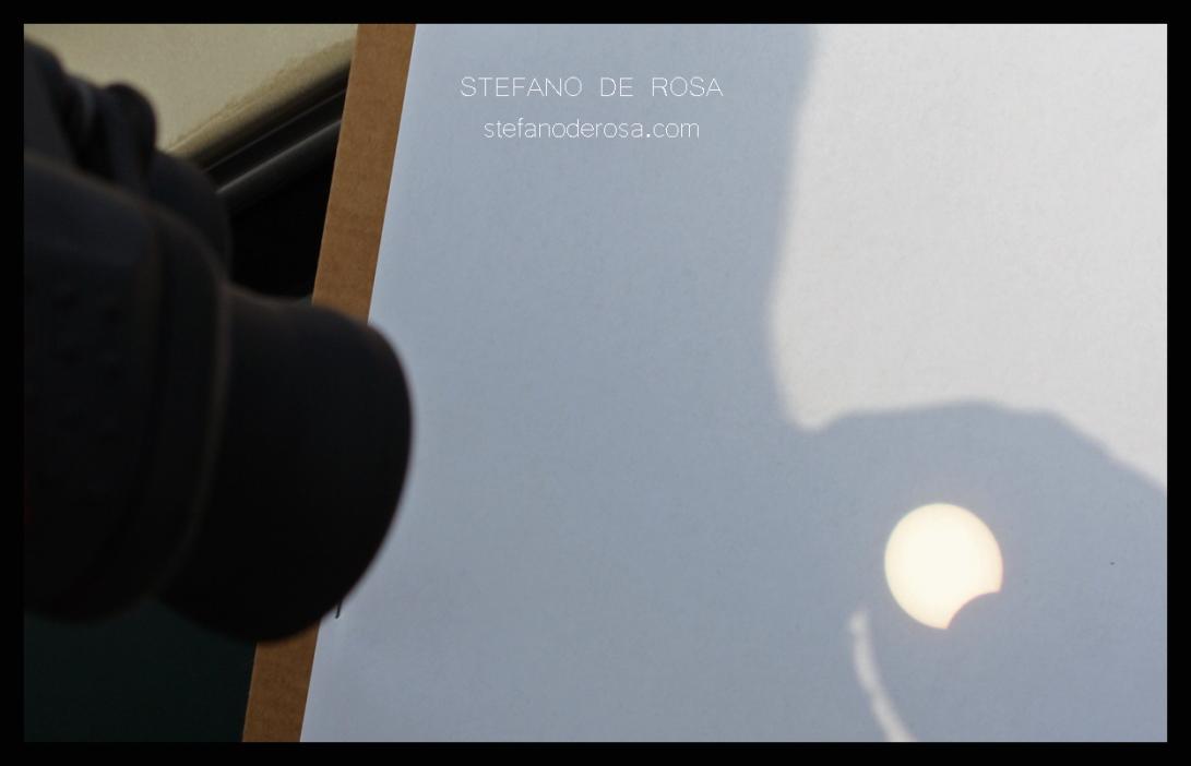 Eclipse with binoculars