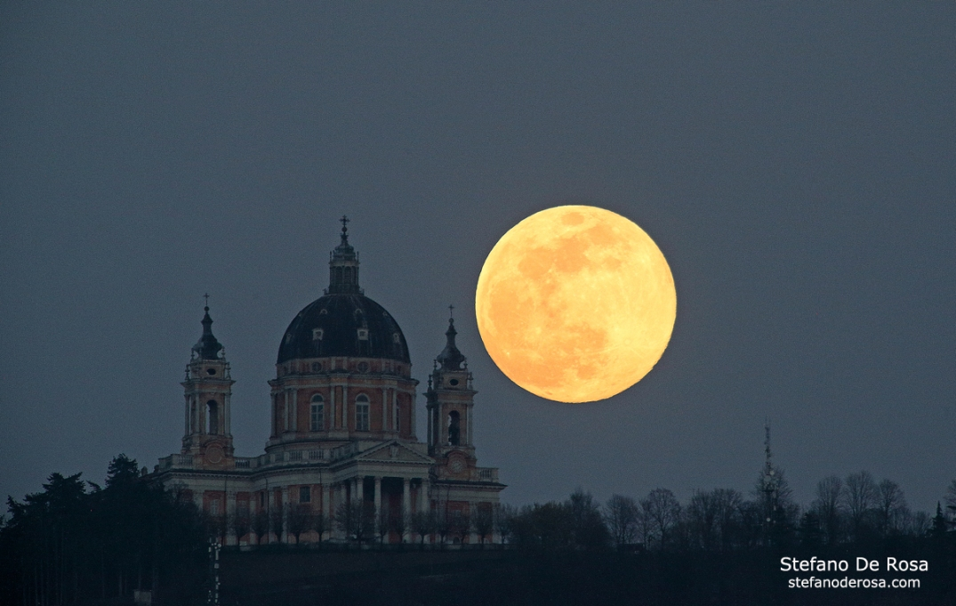 Super Moon and Basilica di Superga