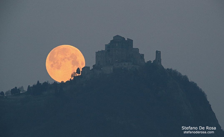 Super Moon and Sacra di San Michele