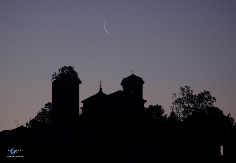 Moon Venus and Santa Maria della Neve