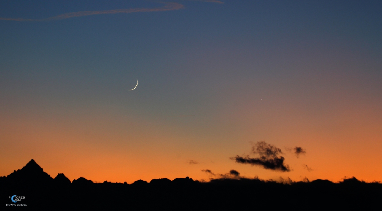 Moon - Mercury - Jupiter and Monviso