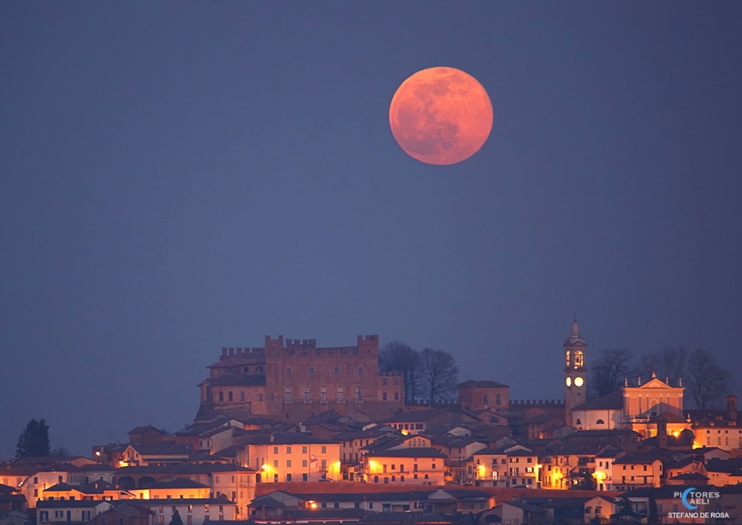 Full Snow Moon and Montemagno Castle